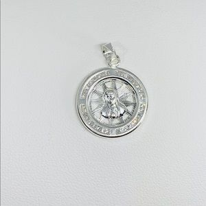 Sterling Silver 925 Pendant Virgin Mary Pendant